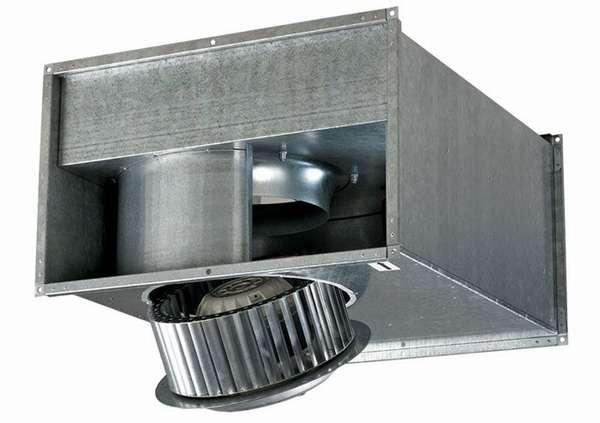 Прибор для вентиляции с монтажом на квадратный воздуховод