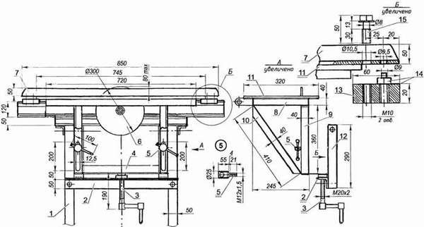 Комбинированное оборудование – стационарная циркулярная пила и фуганок