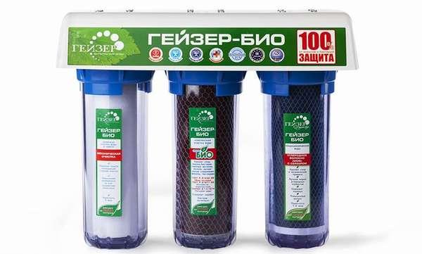Компоненты этого трехступенчатого фильтра для воды подобраны специально для задержания солей жесткости
