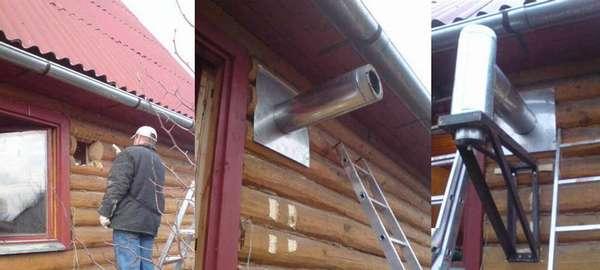Как выбрать надежный настенный кронштейн для дымохода: обзор всех разновидностей + правила установки