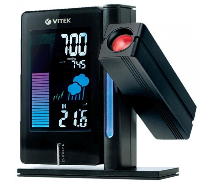 Метеостанция VITEK VT-6402 с проекцией данных на стену или потолок