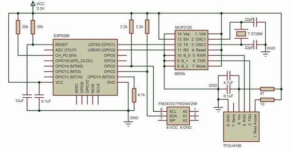 Электрическая схема устройства для автоматической передачи данных