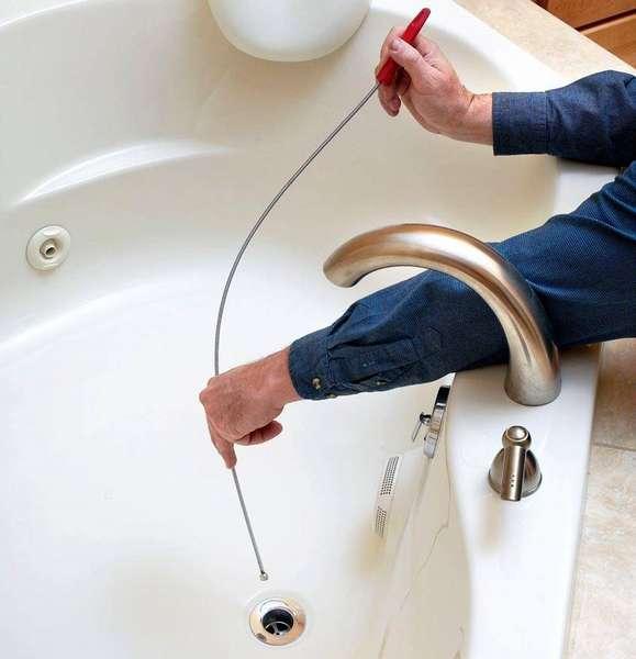 Прочистка слива в ванной, поможет закрепить полученный результат