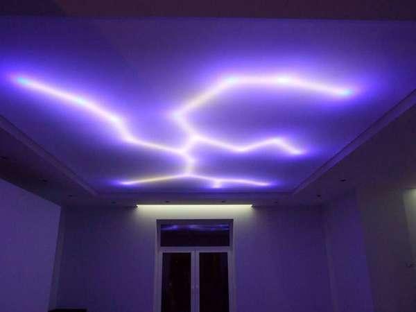 Идеальная подсветка потолка при помощи светодиодной ленты