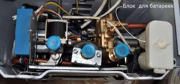 Устройство газовой колонки «Вектор»