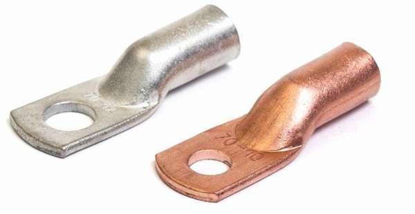 Изделия для опрессовки делаются из меди, алюминия или биметалла
