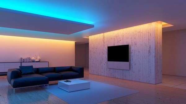 Вот такую красоту можно создать при помощи светодиодных лент