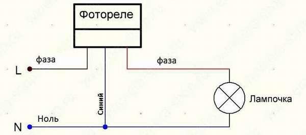 Простейшая схема подключения датчика света