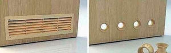 вентиляция в двери гардеробной