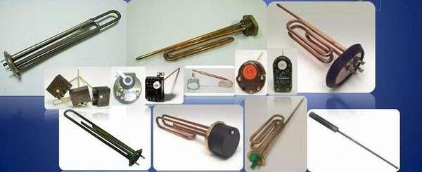 Разные модели нагревательных элементов для водонагревателей