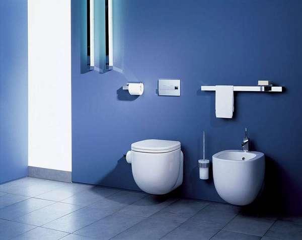 Отсутствие элементов, крепящихся к полу, сделает уборку ванной комнаты простой и быстрой