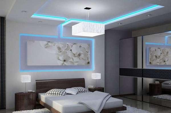 Допустимо применение различных комбинаций линейных подвесных и других светодиодных светильников