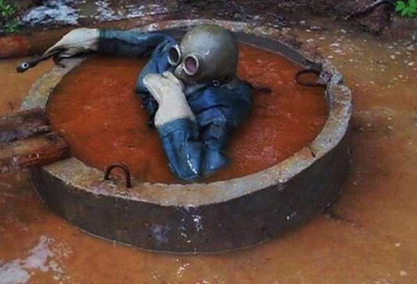 очистка выгребной ямы при аварии