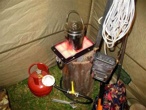 Приготовить пищу на таком устройстве можно не выходя из палатки