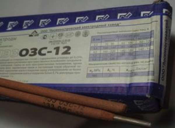 Технические характеристики и описание электродов ОЗС-12