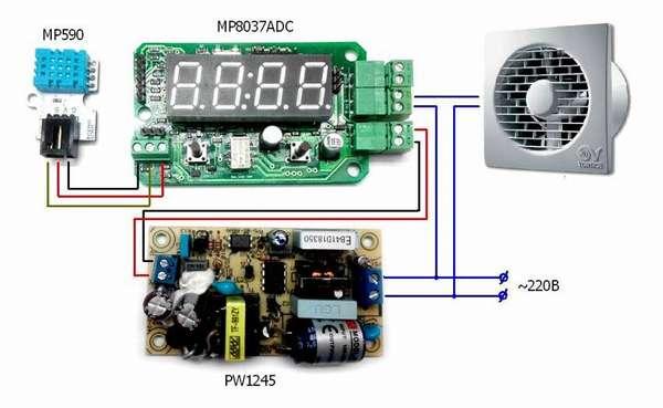 Автоматизациювентилятора для вытяжки в гаражеможно сделать с применением специальных наборов