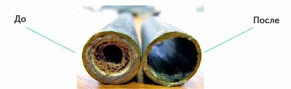 Засорение труб – одна из причин уменьшения напора