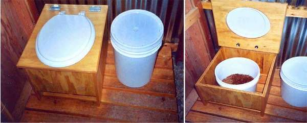 Торфяной туалет своими руками из обычного ведра