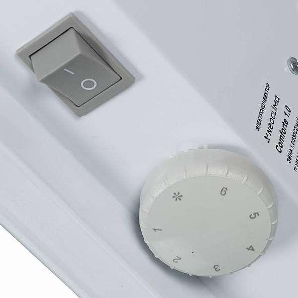 Механический термостат позволяет вручную задать желаемую температуру