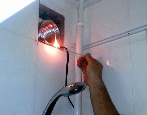 Проверка тяги в вентиляционной шахте