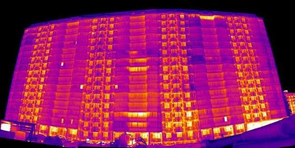 Обследование зданий тепловизором нужно производить ночью или под утро