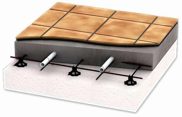Стяжка защитит элементы теплого водяного пола от механического повреждения