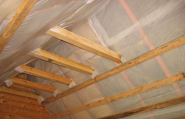 Как сделать пароизоляцию потолка бани: пошаговая инструкция