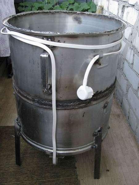 Подойдёт бак стиральной машины активаторного типа с вертикальной загрузкой