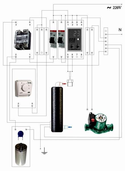 Система отопления с котлом ВИН