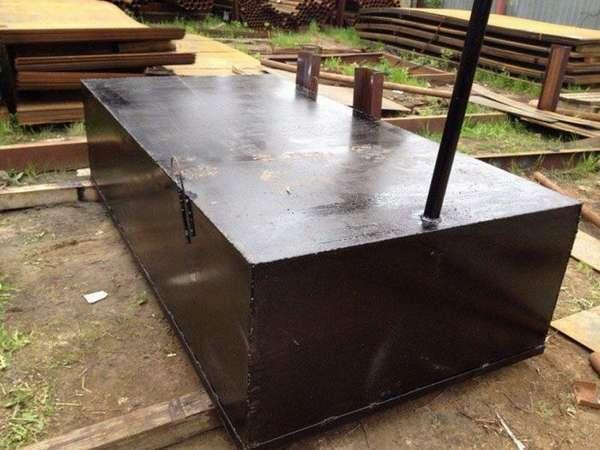 Стальной септик для дачи с высоким уровнем грунтовых вод