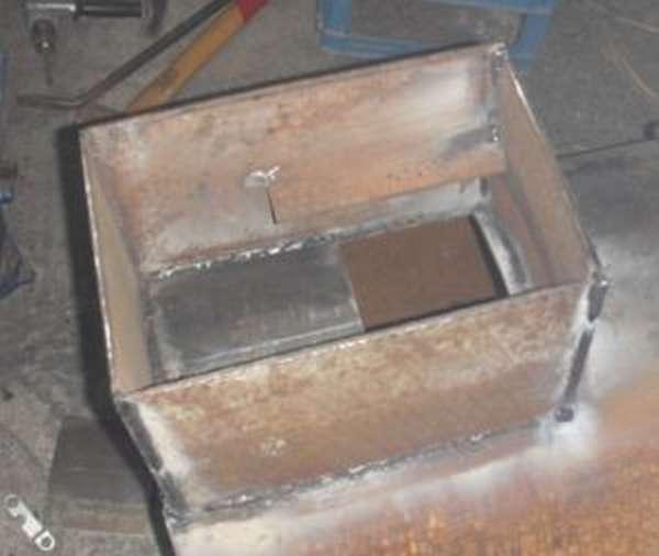 Изготовление горизонтальной печи из трубы для бани своими руками