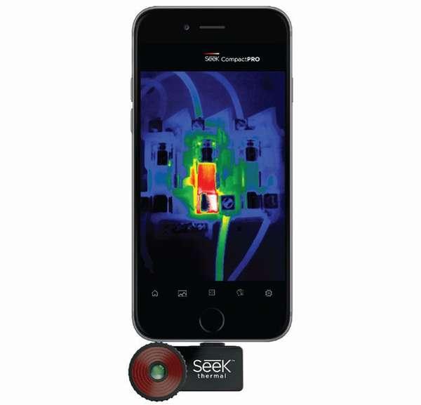 Тепловизор для смартфона «Seek Thermal» можно использовать для «IOS» и «Android», используя переходник