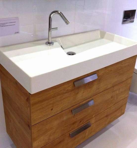 Дизайнерский умывальник подойдет под любой шкафчик или стиральную машинку