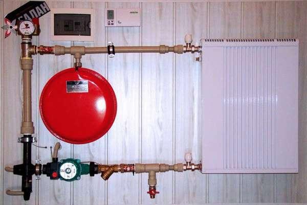 Электродный котел, подключенный к системе отопления