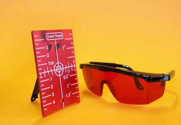 Лазерная метка и очки для работы с нивелиром