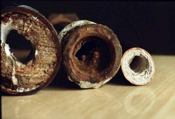Старые забитые трубы