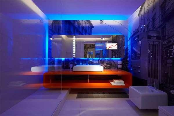 Для оснащения ванной комнаты подбирают светодиодные светильники с достаточным уровнем защиты по IP