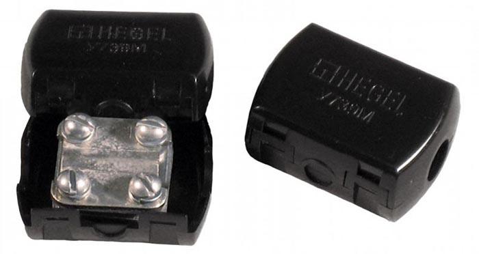 Для проводов с большим сечением используют такие клеммники, называемые среди электромонтеров «орехами»