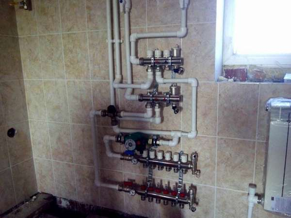 Закрытая система отопления производится по более тонким трубам