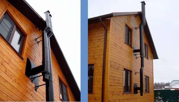 Такие трубы можно крепить к внешним стенам, не боясь за целостность наружной отделки и нагрузку на несущие конструкции