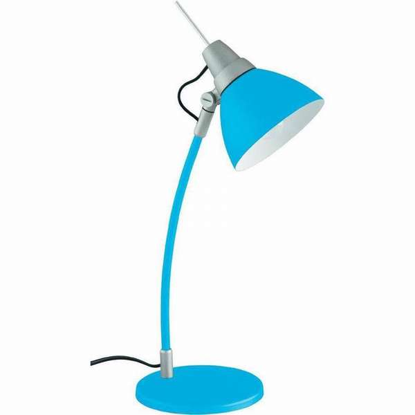 Детская настольная лампа для письменного стола приглушенного голубого цвета