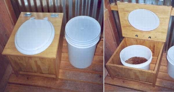 Торфяной туалет на даче своими руками