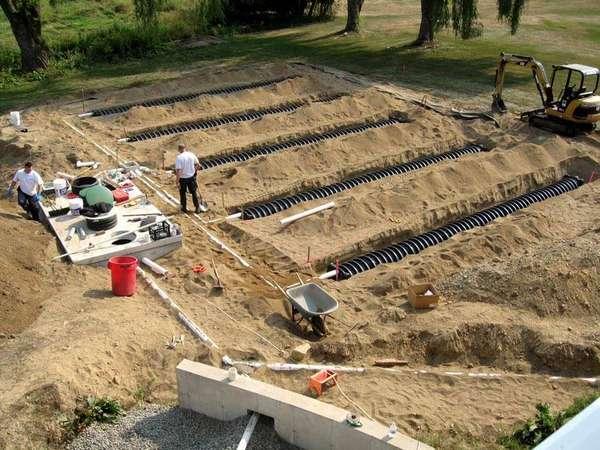 Устройство дренажа в глинистой почве