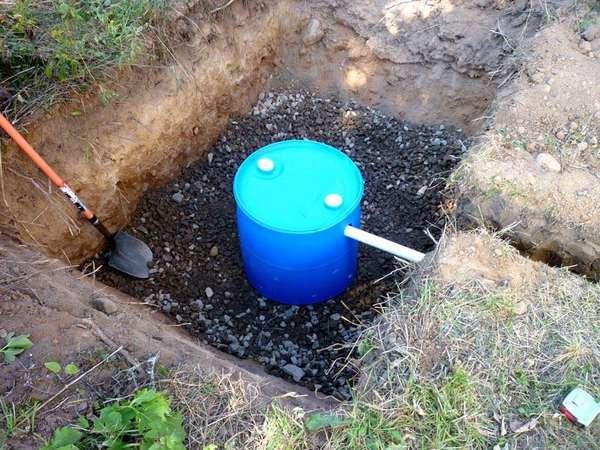 Элементарная канализация для дачи небольшого объема