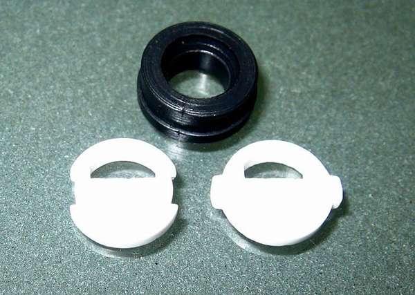 Российские керамические лепестки с одним отверстием