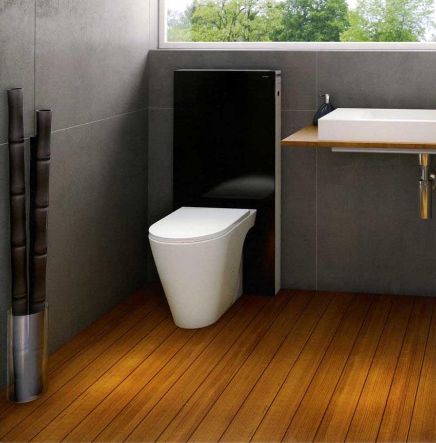 Ультрасовременная исталляция Геберит с унитазом в комплектестанет изюминкой любой ванной комнаты