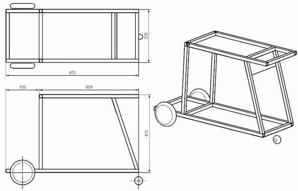 Как сделать тележку для сварочного полуавтомата с баллоном?