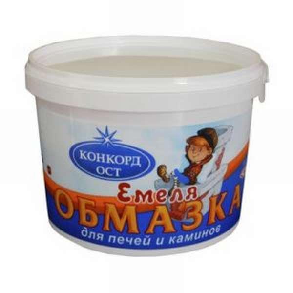 Обмазка для печей и каминов «Емеля» качественный многофункциональный продукт для облицовки