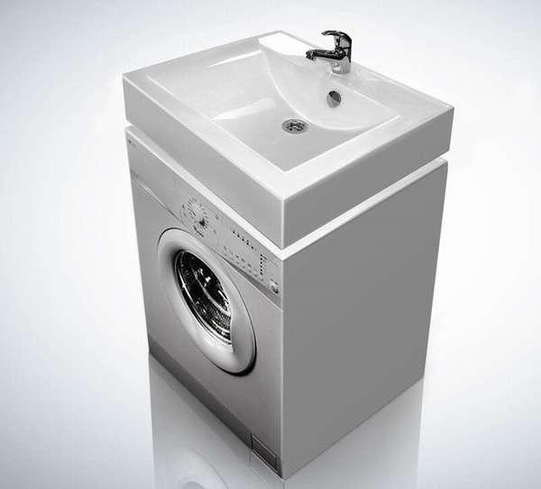 Готовый комплект из раковины и стиральной машины