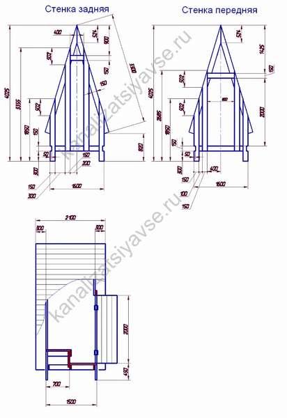 размеры туалета для дачи